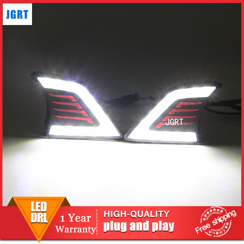 car styling 2013-2014 For Toyota hilux LED DRL For hilux led fog lamps daytime running light High brightness guide LED DRL 2 pc hilux hilux chequered racing side stripe graphic vinyl sticker for toyota hilux decals