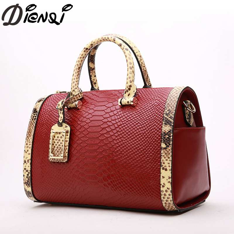 DIENQI Women Handbag 2018 New Designed Alligator Genuine Leather Crossbody Bags Tote Large Capacity Shoulder Bag Bolsa Feminina women shoulder bags genuine leather tote bag female luxury fashion handbag high quality large capacity bolsa feminina 2017 new page 6