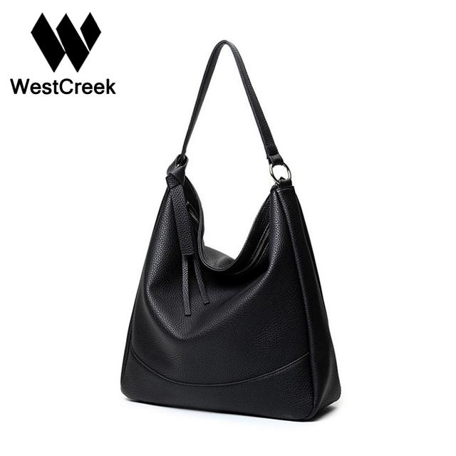 Westcreek Marca Design Clássico Super Macio Lichia Couro Hobos Tote Mulheres De Luxo Bolsa Bolsa de Ombro Grande Capacidade Feminina UNQ7