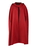 Women Men Halloween Party Cloak Witch Red Cape Hooded Cosplay Costume For Show Stage