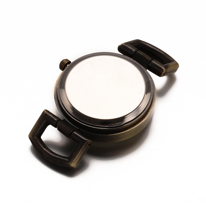 10 pcs Simples Componentes do Relógio Liga Assista Face Plana Rodada Cabeça do Relógio Do Vintage