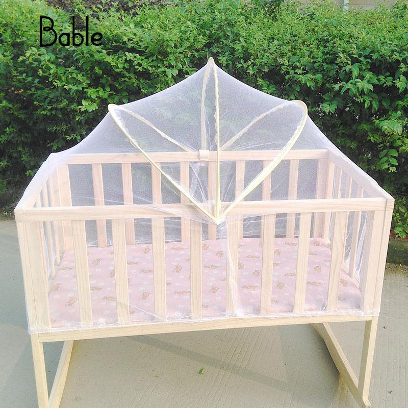 Baby Bed Tent Infant Canopy Folding Anti Mosquito Net Toddlers Cot Netting Mesh