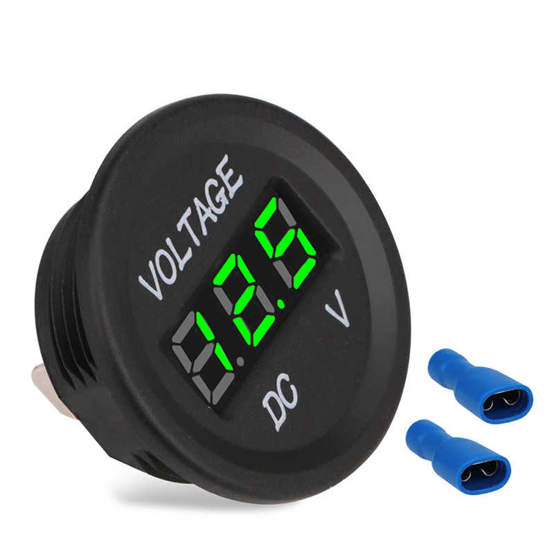 Waterproof Motorcycle Voltmeter Gauge DC 12V 24V Digital Car Volt Meter 12v For Motorbike