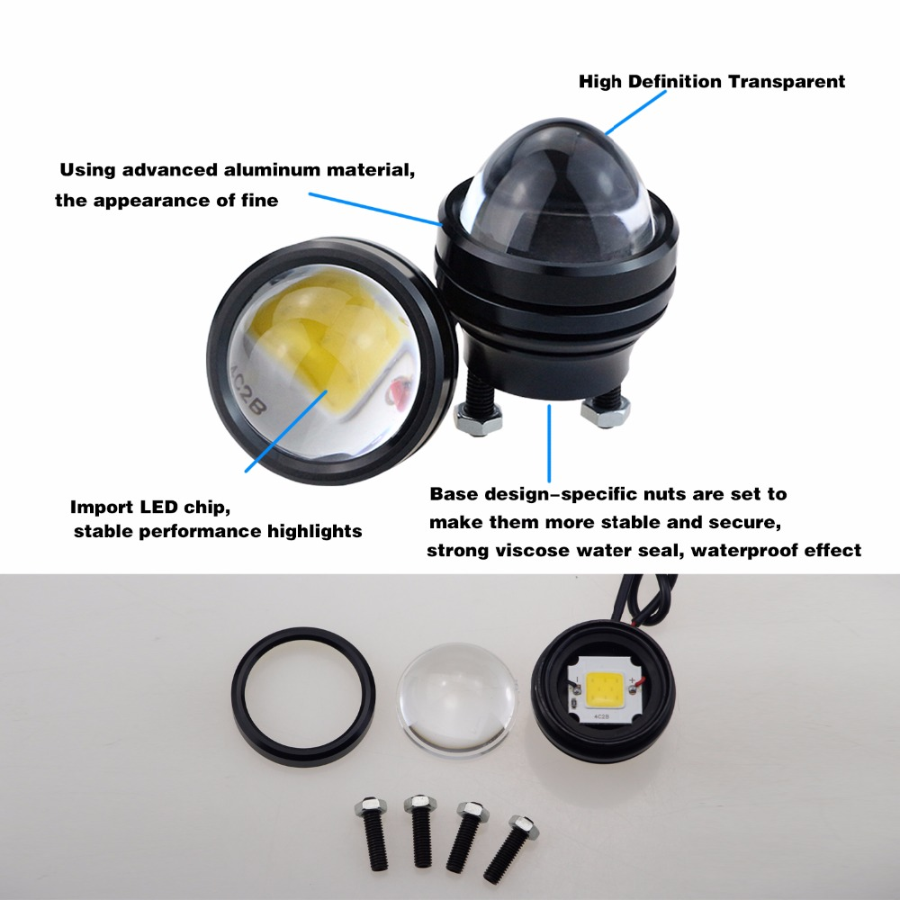 GEETANS 2 STKS 15 W 12 V Auto DRL Fish Eye Light LED Mistlampen - Autolichten - Foto 3