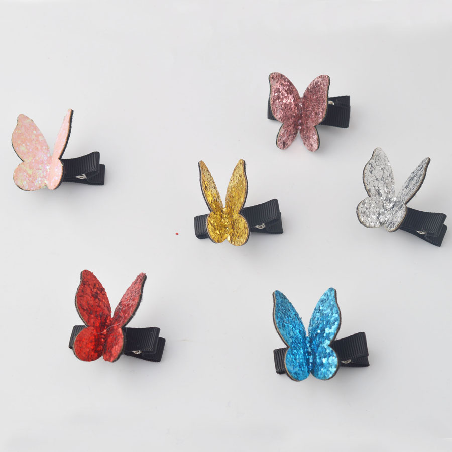 Beautiful Sparking Butterfly Children Girls Hair Accessories Cartoon Barrettes Girl   Headwear   Bow hair clip