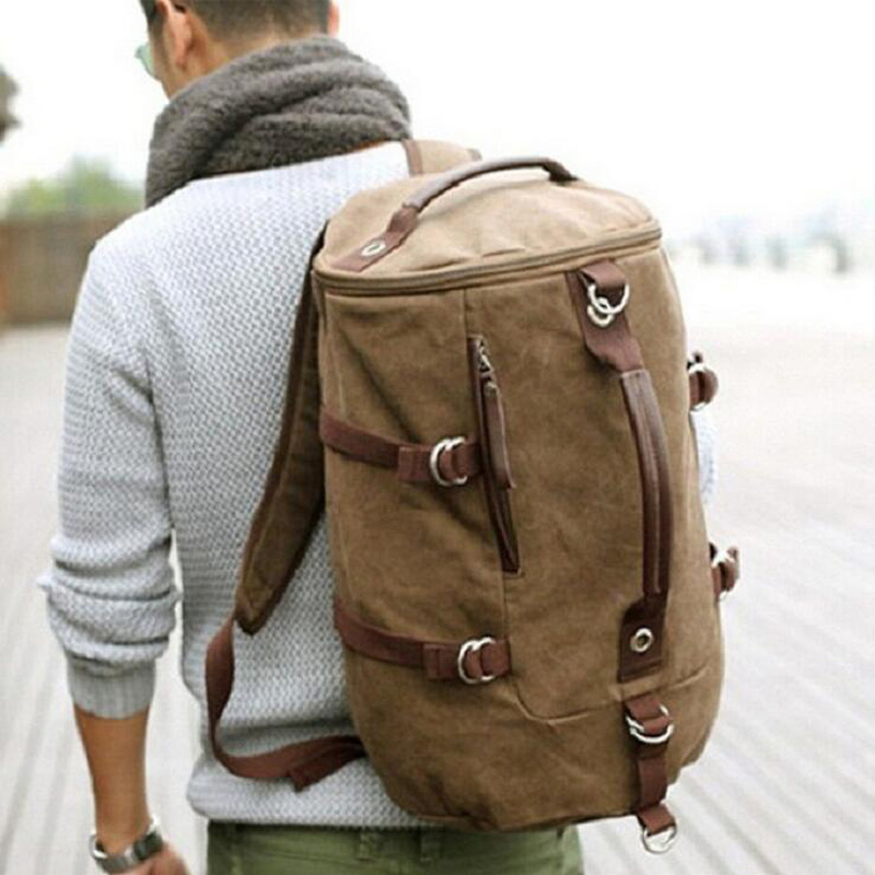 Military Canvas Backpacks Men Climb Daily Large Travel