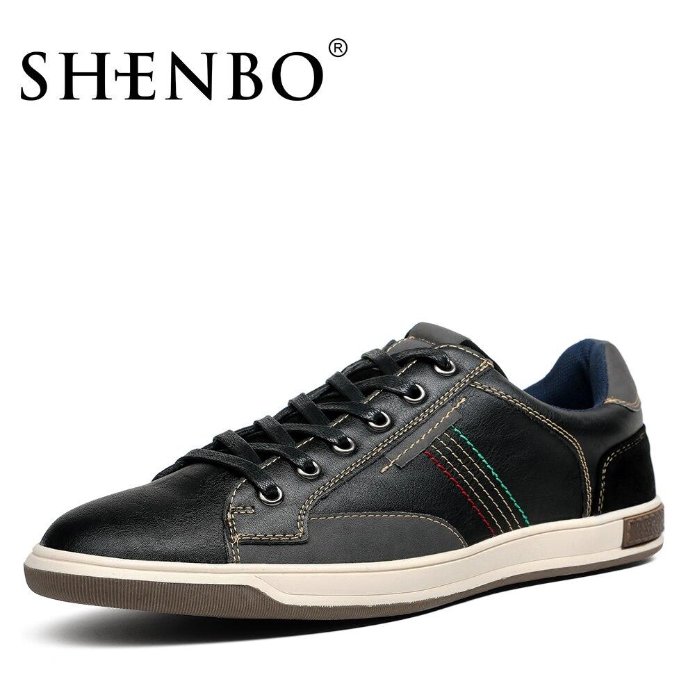 SHENBO Brand Fashion Men Shoes, Classic Retro Men Casual ...
