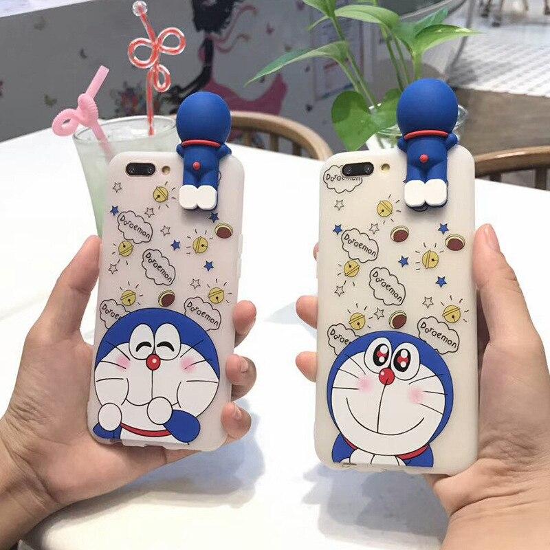 3D Doraemon case For iphone x 8 7 PLus 6s cute Cartoon lying Case For iPhone 7 case 7 PLus soft silicone cover for iphone 6s