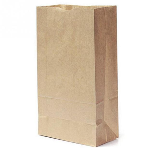 Us 1 99 10pcs Lot Small Kraft Paper Gift Candy Bag Vintage Wedding Treat Brown Bags Simple Ping Pouch 24 13 8cm In Baskets