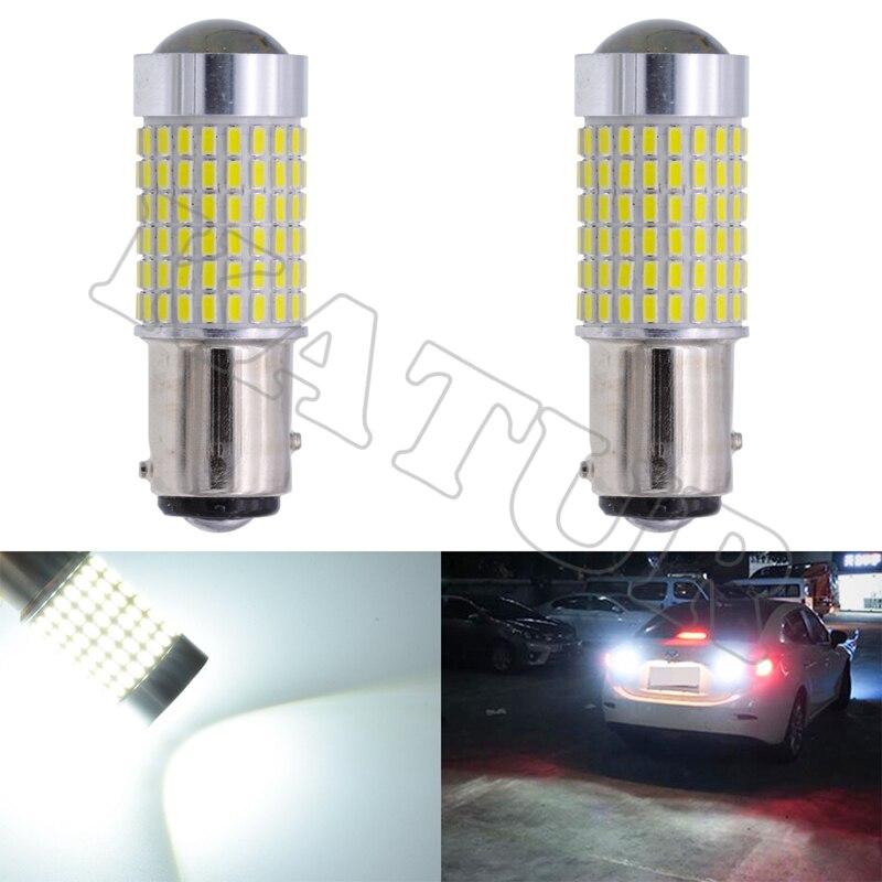 2pcs 1157 Bay15d Brake Lights S25 3014 LED 144SMD High Power LED Tail Stop Bulbs Car Light Source P21/5W Led Lighting Car goods