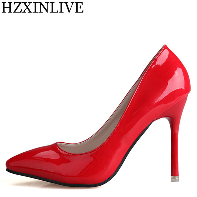 цены GGOB 2018 New Wedding Womens Pumps Heel Heels Pointed Toe High Heel Shoes Woman Brand Stiletto heel Breathable Banquet