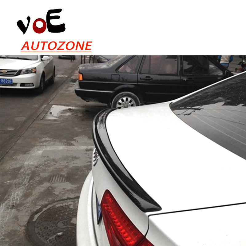 2009 2010 2011 2012 2013 2014 2015 2016 A4 Carbon Fiber Rear Wing Lip Spoiler for Audi A4 B8 B9 pu rear wing spoiler for audi 2010 2011 2012 auto car boot lip wing spoiler unpainted grey primer