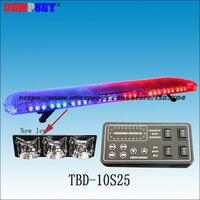TBD-10S25 led 비상 경고 라이트 바  새로운 렌  구급차/소방차/경찰/차량  지붕 스트로브 블루 & 레드 경고 라이트 바