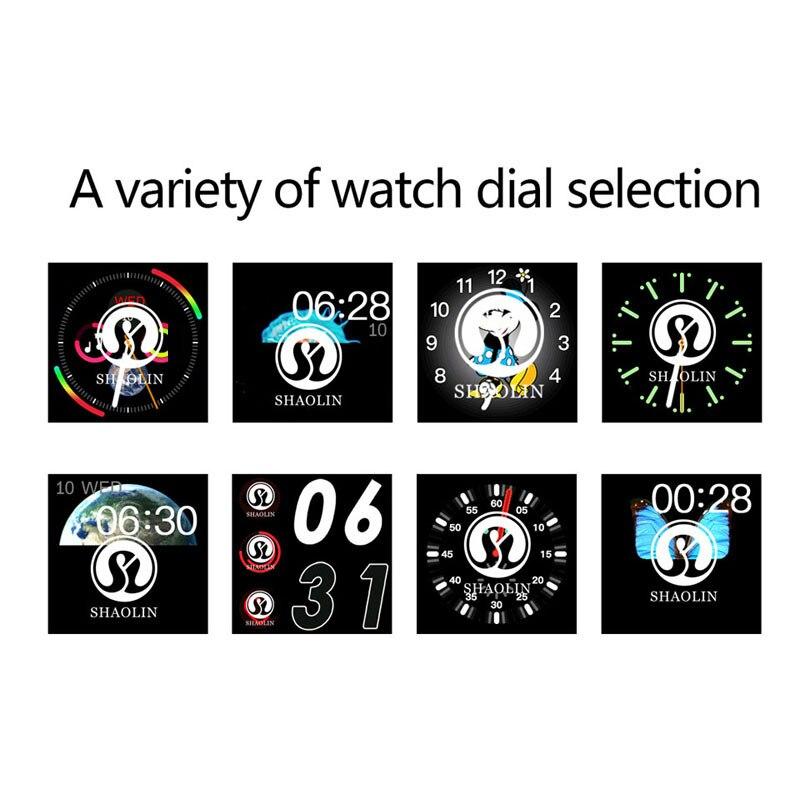 Reloj inteligente Serie 4 reloj inteligente para Apple iOS iPhone Android reloj de pulsera deportivo Bluetooth pulsera Fitness Tracker (botón rojo) - 6