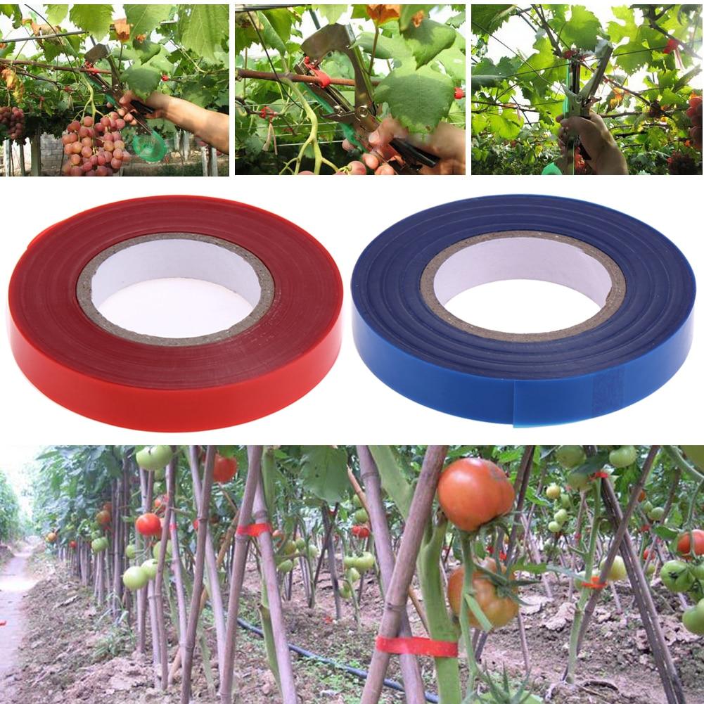 20pcs/set 1.1cmx30m PE Plant Branch Tapetool Tapener Gardening Tapenter Flower Vegetable Tying Adhesive Tape Garden Tying Tool
