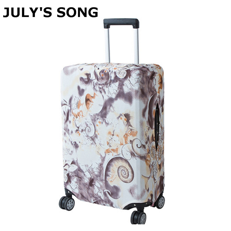 JULYS SONG Luggage Protection Cover Trolley Case Dustproof Elastic Luggage Cover Travel Accessories For 18-32 Inch Suitcase JULYS SONG Luggage Protection Cover Trolley Case Dustproof Elastic Luggage Cover Travel Accessories For 18-32 Inch Suitcase