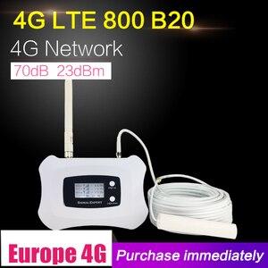 Image 1 - 4G LTE 800mhz الفرقة 20 70dB هاتف محمول مكبر صوت أحادي الخلوية الداعم LTE 800 المحمول مكرر 4G الداعم هوائي مجموعة للمنزل