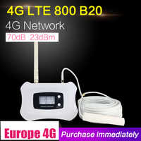 4G LTE 800mhz Band 20 70dB Cell Phone Signal Amplifier Cellular Booster LTE 800 Mobile Repeater 4G Booster Antenna Set For Home