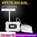 4G LTE banda de 800 mhz 20 70dB celular amplificador de señal de teléfono celular de LTE 800 repetidor móvil 4G de juego de la antena para la casa