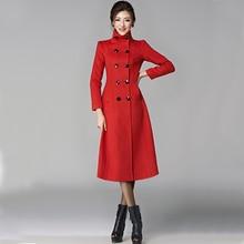 Winter coat women 2015 new double-breasted cashmere female sobretudo woolen coats thicker longer casaco feminino