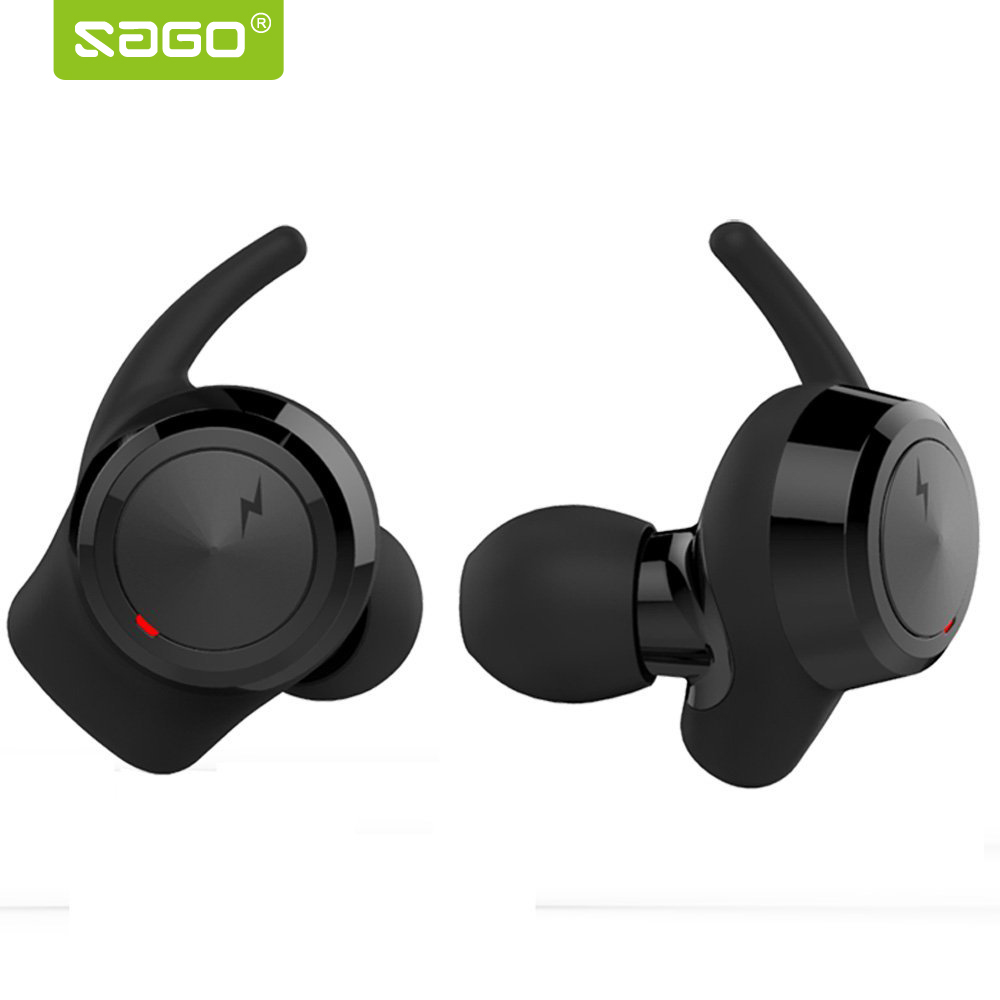 sago sport in-ear earhphone wireless bluetooth stereo surround sound earbuds with microphone and charging box support music trendwoo® twins bluetooth wireless speaker support 2 0 left and right stereo sound surround with built in microphone hands free music player