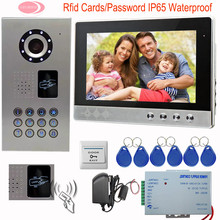 SUNFLOWERVDP 10 Inch Video Door Phone Doorbell Intercom IR Camera Monitor Inductive Card Video Of Door IP65 Waterproof Intercom