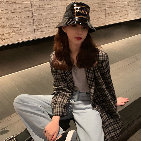 Vintage Double Breasted Office Ladies belt Plaid Blazer Suit Coat Jacket Women Retro  Outerwear blazers Female 2019 Islamabad