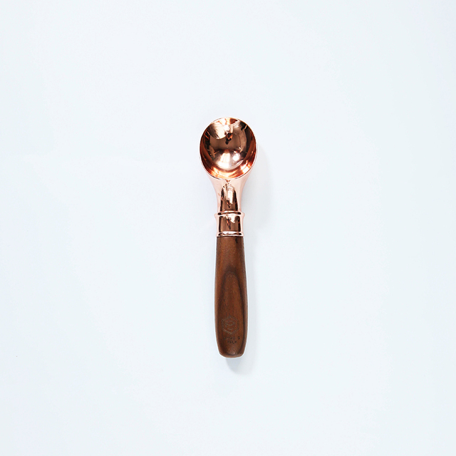 Language Black Walnut Wood Rose Gold Copper Plating Ice Cream Spoon Ice Cream Spoon Ball Digging Machine Amp 4