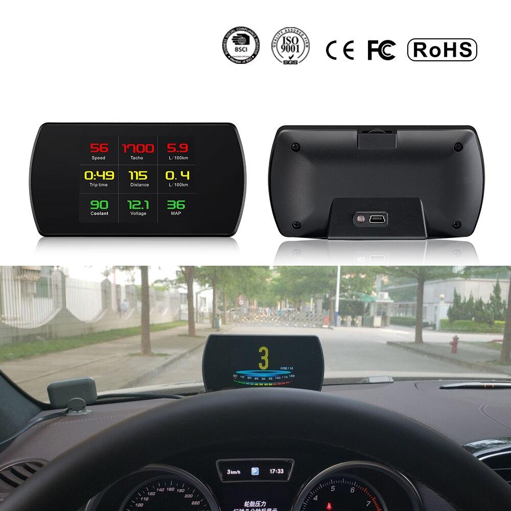 XYCING OBD2 Car HUD Head Up Display Smart Tester Digitale HD Display Digitale Tachimetro Consumo Combustibile Temperatura RPM Tacho