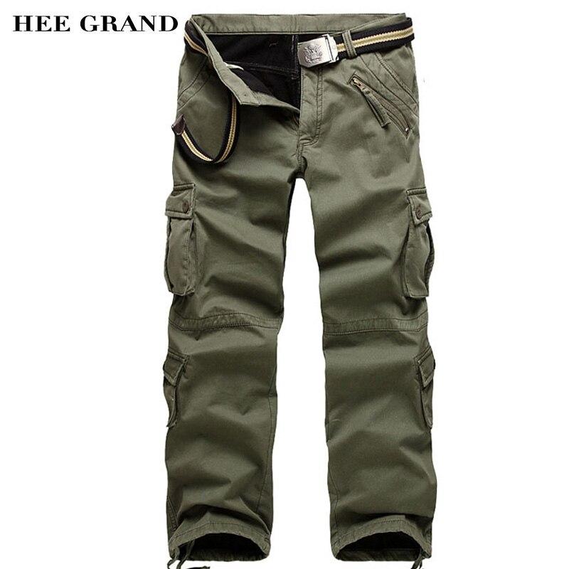 Hee Grand Beiläufige Warme Cargo Pants Mid-taille Dicken Plus Samt Späten Herbst Und Winter Lose Stil Hosen Plus Größe Mkx1032 Cargo-hosen Hosen