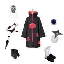 Brdwn NARUTO Unisex Akatsuki Kakuzu Ninja Cosplay costume (red cloud cloak+headband/mask+shoes+ring+kunai+bag+shuriken)