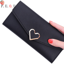 2019 Leather Women Wallets Hasp Lady Moneybags Zipper Coin Purse Woman Envelope Wallet Money Cards ID Holder Bags Purses Pocket fashion men wallets good quality canvas fabric short clutch purses male moneybags coin purse wallet cards id holder bags burse