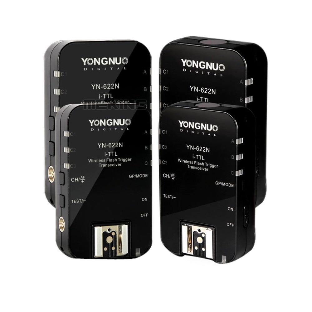 4pcs Yongnuo YN622 N Wireless ITTL HSS Flash Trigger Radio 1 8000s For Nikon D800 D700