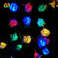 4 M 40LED Rosa Flor LED Luces de la Secuencia del Día de los Enamorados AA Batería Evento Fiesta de Cumpleaños de La Boda Decoración Alumbramientos Rosas Casamento