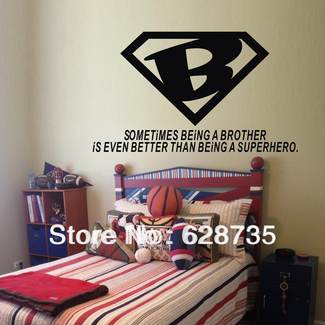 Aliexpresscom  Buy Ebay Hot Selling Free Shippingbrother Is - Superhero vinyl wall decals