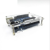 5PCS Uno R3 Case Enclosure Transparent Acrylic Box Clear Cover Compatible For Arduino UNO R3 Case