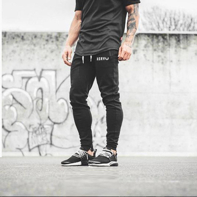 Brand Mens Bodybuilding Pants Casual Joggers men Cotton Trousers Gymshark Professional gyms Fitness Sweatpants