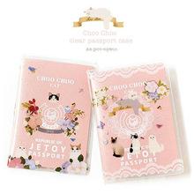 Nowy przyjazd Kawaii okładka na paszporcie kobiety Travel etui paszport obejmuje cute przypadku paszportów tanie tanio Akcesoria podróżne F020 Odbitki zwierzęce z narzuto Pokrowce na paszport okładka paszportu Portfel wizytówek