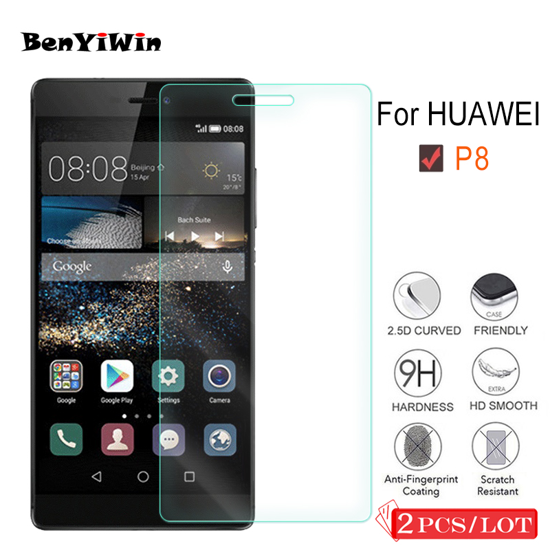 2Pcs Premium Tempered Glass For Huawei Ascend P8 Display screen Protector Clear Toughened Protecting Movie Case For Huawei P8 Cowl Cellphone