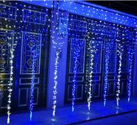 10 sztuk 3 M * 2 M 3*3 m 6*3 m LED Fairy światełka taśmowe do zasłon wewnątrz na zewnątrz twinkle kolorowe domu ogród boże narodzenie wesele w Girlandy świetlne od Lampy i oświetlenie na