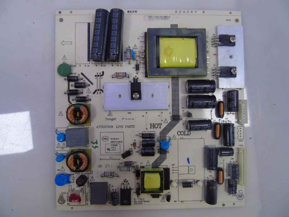 K-75L1 465-01A3-B2201G K75L1 465R1013SDJB Good Working Tested original power supply board used for tcl le32d99 k 75l1 465 01a3 b2201g good working