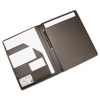 High Quality A4 PU leather File Folder Paper Clip Padfolio For Office School Supplies desk organizer
