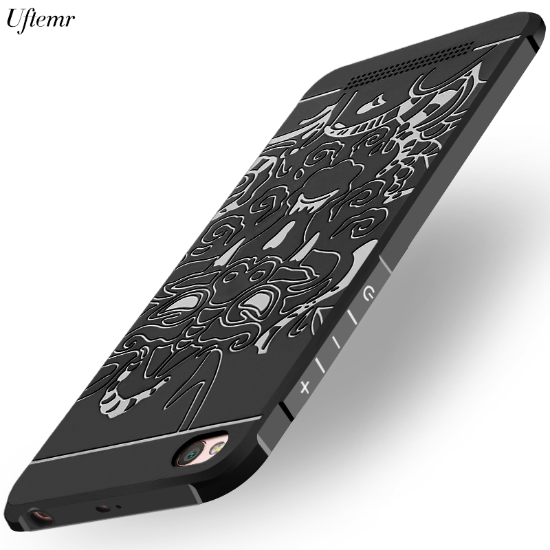 Uftemr for Xiaomi redmi 5A Case 3D Dragon Soft Silicone TPU Phone Back Case for Xiaomi Redmi 5A 5 A Cover Full Protective Cases