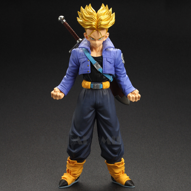 New Super Saiyan Trunks Action Figure 27cm Dragon Ball 11 inch PVC Models Kids Toys Action Toy Figures Collectible Gift Toy anime dragon ball super saiyan 3 son gokou pvc action figure collectible model toy 18cm kt2841