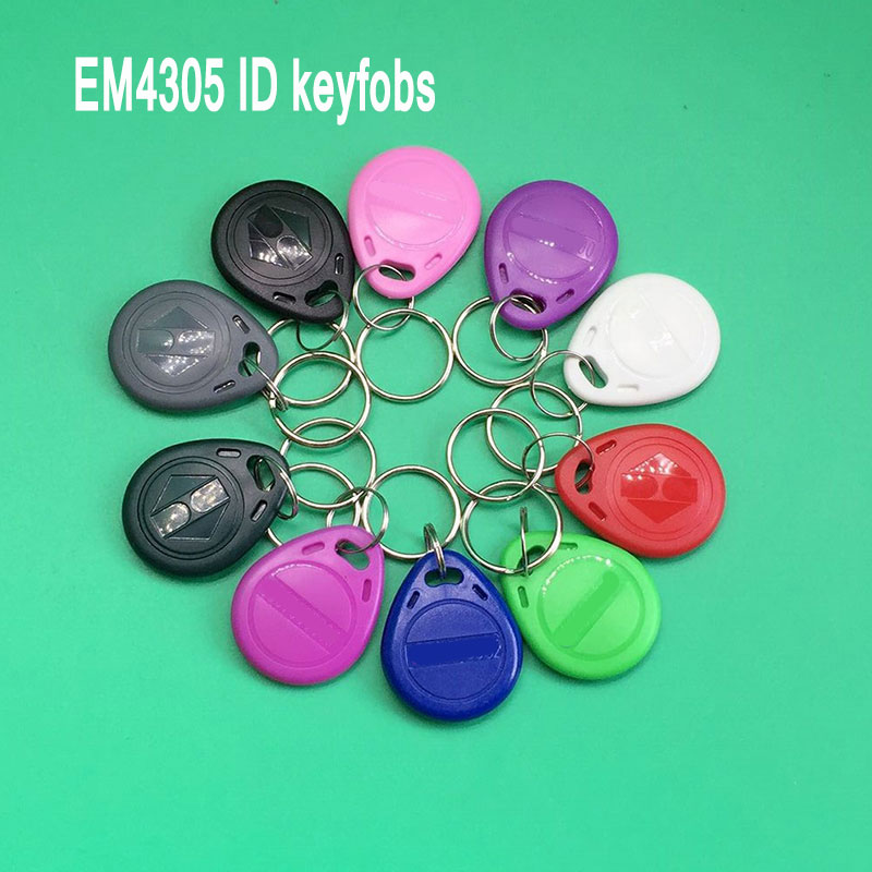 10 Pcs/lot EM4305 Copy Rewritable Writable Rewrite EM ID keyfobs RFID Tag Key Ring Card 125KHZ Proximity Token Access 100pcs125khz rfid proximity keyfobs ring access control card rfid id tag door entry access control em key chain token