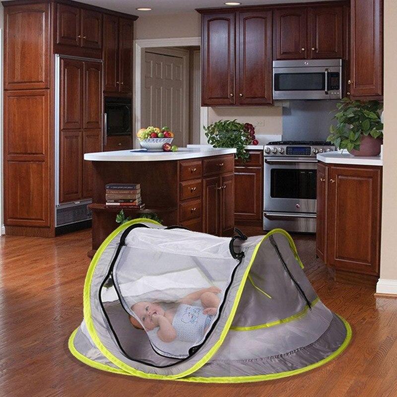 Besorgt Baby Strand Zelt Baby Reise Bett Tragbare Uv Schutz Zelt Für Infant Leichte Moskito Net B2cshop Ruf Zuerst