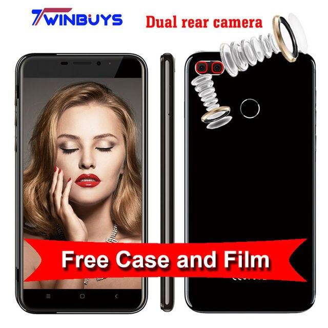 "Oukitel U20 Plus 4G Mobile phone Dual rear camera 5.5"" 1080P MTK6737T Quad Core android 6.0 2GB+16GB 13MP Fingerprint Smartphone"