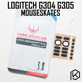 Gorąca linia gry 2 zestawów/paczka poziom konkurencji nóżka myszy łyżwy gildes dla logitech g304 g305 0.6mm grubość Teflon