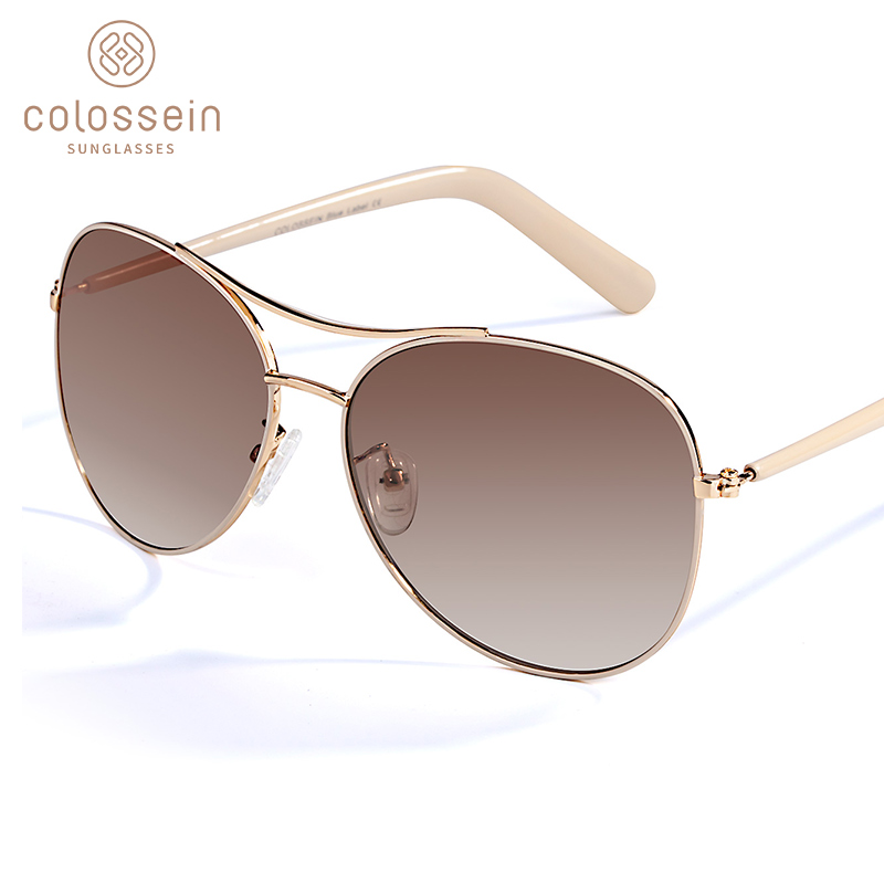 COLOSSEIN Sunglasses Women Gold Frame Classic Female Unisex Sun Glasses For UV400