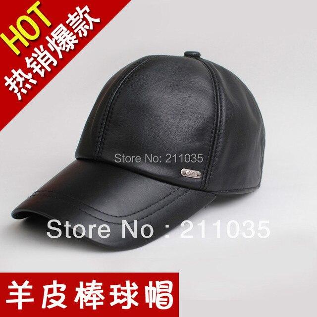 Горячие Продажи Качества овчины бейсболка мужской натуральная кожа шляпа осень и зима шляпа мужской меховой шапке,
